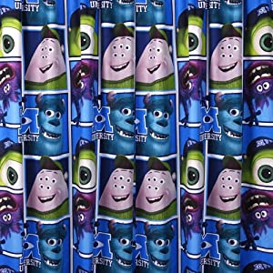 Character World 72-inch Disney Monsters University Curtains, Multi-Color