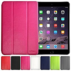 AirPlus AirCase Poromoric Leather Material Snap On Cover for Apple iPad Mini Gen1 [ BABY PINK ]