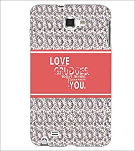 PrintDhaba Quote D-3218 Back Case Cover for SAMSUNG GALAXY NOTE 1 (Multi-Coloured)