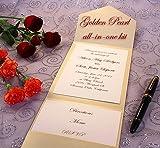All-in-One Pocket Invitation Kit - Golden Pearl Elegance - Pack of 20