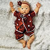 Paradise Galleries Asian Baby Doll, Realistic & Lifelike Baby Mei , 20 inch GentleTouch Vinyl, Weighted Body