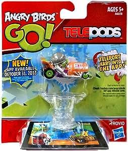 Hasbro Angry Birds GO! Telepods Kart Green Pig with HELMET