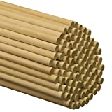Dowel Rods Wood Sticks Wooden Dowel Rods - 1/2 x 48 Inch Unfinished Hardwood Sticks - for Crafts and DIY'ers - 25 Pieces by Woodpeckers (Color: Pack of 25, Tamaño: Dowel 1/2 x 48 in)
