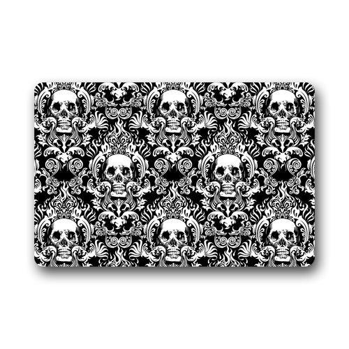 Atnee Creative Skull Damasks Design Doormat Door Mat / Pad