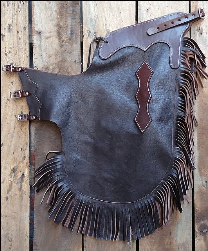 Hilason Western Cowhide Pro Rodeo Bronc Bull-Riding Show Smooth Leather Chinks C