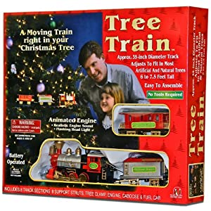 Christmas tree train animated engine with music and lights for your