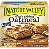 Nature Valley Soft-Baked Oatmeal Squares, Peanut Butter, 7.44 Ounce (Pack of ...