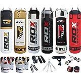 Authentische RDX 11 Stück Box-Set 5FT 4FT Heavy Duty Gefüllt Maya Leder sandsack , Handschuhe, Bracket MMA Ständer