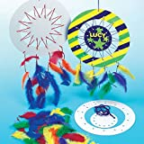 Design a Dreamcatcher Kits with colored Yarn & Feathers for Children to Make & Decorate(Pack of 6)