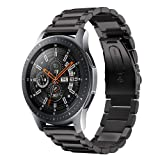 Kartice Compatible Samsung Galaxy Watch (46mm) Bands, 22mm Galaxy Watch Band Solid Stainless Steel Metal Replacement Bracelet Strap fit Samsung Galaxy Watch SM-R800 Smart Watch (46mm).-Black (Color: Black)