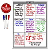 Smart Planners Weekly Multi-Purpose Magnetic Refrigerator Dry Erase Board | Chores, To do list, Reminders Planner for Kitchen Fridge | With 3 Magnetic Dry Erase Markers Included