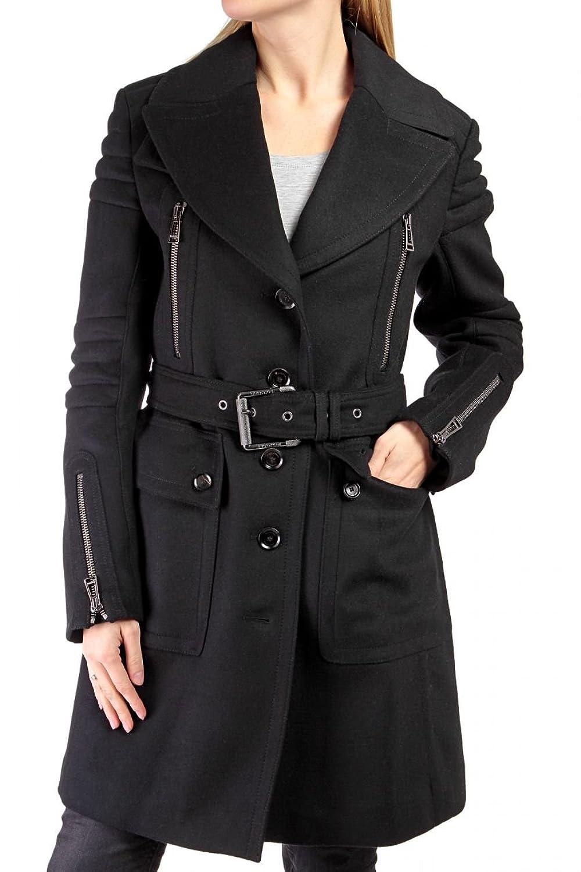 Belstaff Black Label Damen Jacke Kaschmir-Mantel DOVER BELTED PEACOT, Farbe: Schwarz