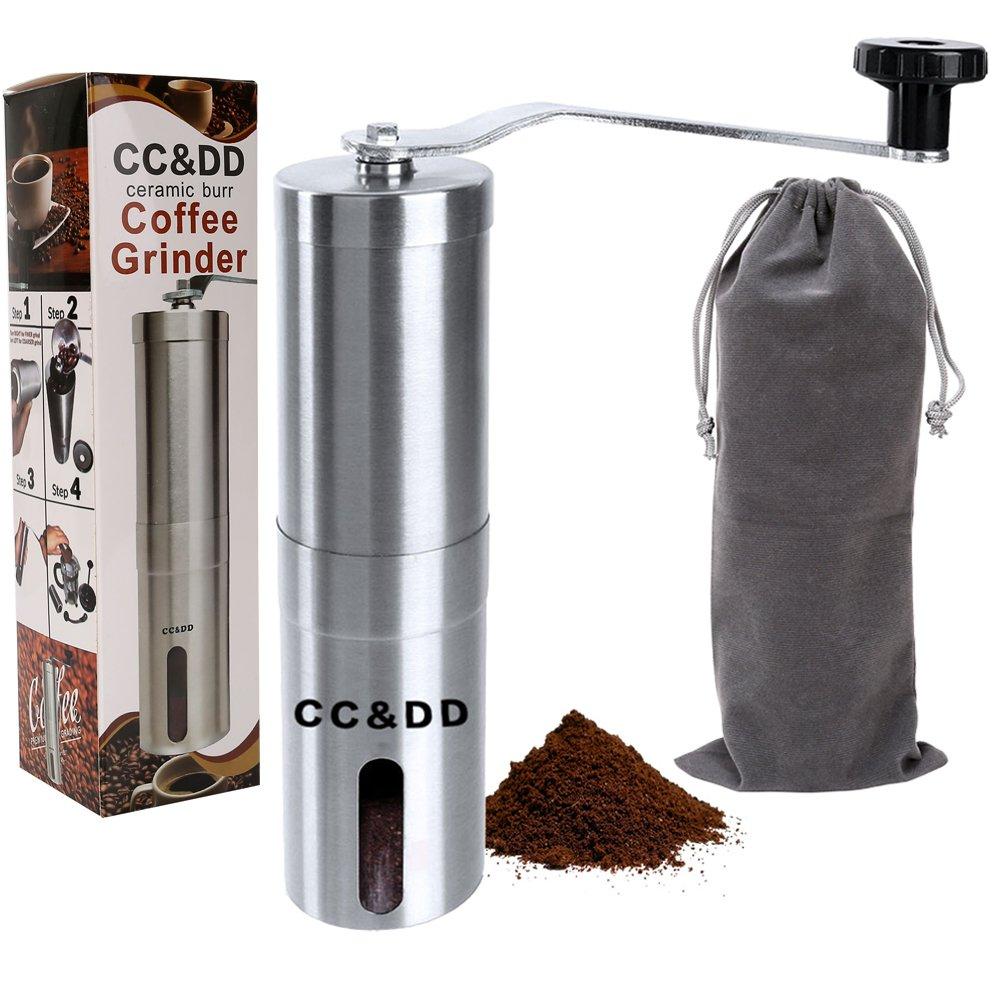 Hand Crank Coffee Grinder ~ Burr manual coffee grinder hand mill crank works beans