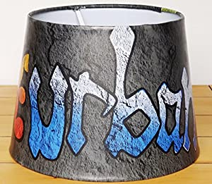 "Graffiti Lampshade or Ceiling Light Shade 9.5"" DUAL PURPOSE Lampshade or Pendant Light shade Boys Girls Teens Grafitti Urban Themed Room Bedroom Spray Paint by Candy Bottle lamps Uk"