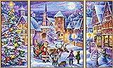 Schipper 609260730 - Malen nach Zahlen, weiße Weihnacht, Triptychon, 50 x 80 cm, bunt hergestellt von Noris Spiele Georg Reulein GmbH & Co. KG