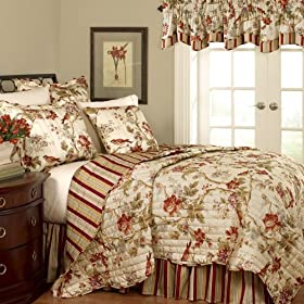 Stunning Waverly Charleston Chirp Piece Quilt Set Full Queen Waverly Comforter Sets