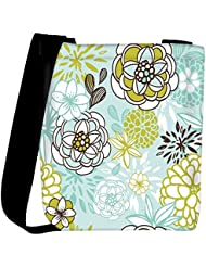 Snoogg Retro Floral Seamless Background Romantic Seamless Pattern In Vector Womens Carry Around Cross Body Tote...