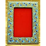 "The India Craft House Kashmiri Art - Papier Mache Photo Frame (8""*6"") KAWPHO8B"
