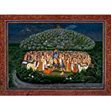 Tallenge - Krishna Lifting Mount Govardhan - A3 Size Rolled Poster