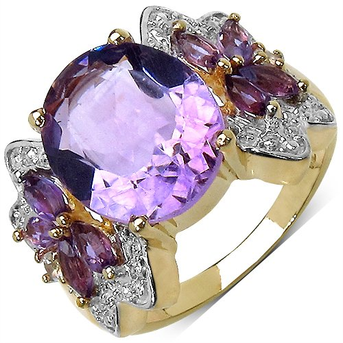 Suraabi Amethyst Brass Ring