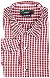 SWATHE Men's Formal Shirt (6014-3-38, Multi-Coloured)