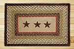 Earth Rugs 88-2745R-019BS Barn Stars...
