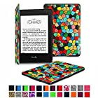 Fintie Kindle Paperwhite SmartShell Case - The Thinnest and Lightest Leather Cover for All-New Amazon Kindle Paperwhite (Fits All versions: 2012, 2013, 2014 and 2015 New 300 PPI), Stained Glass Mosaic