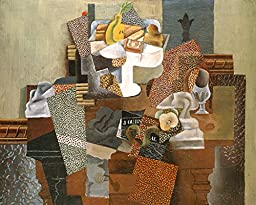 29in x 24in Still Life with Compote and Glass, Winter 1914-15 by Pablo Picasso - Stretched Canvas w/ BRUSHSTROKES