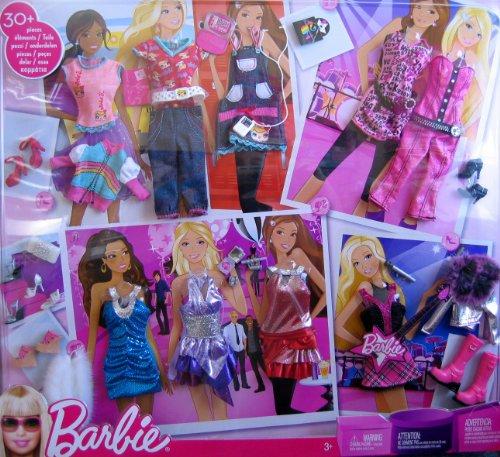 Barbie Fashion Gift Set W 30+ Fashions & Accessories