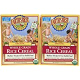 Earth's Best Certified Organic Whole Grain Rice Cereal -- 8 oz Each / Pack of 2