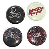 Innova Panic at The Disco Button Pack - 4 Set 1 INCH Buttons - PIN Back Band GIG WEAR