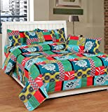 Soni Traders Floral Print Polycotton Double Bedsheet With 2 Pillow Covers (BST_169)
