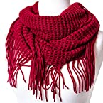 Red Glitter Infinity Scarf