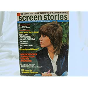 screen stories magazine may 1972  jane fonda  donald sutherland