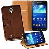 OneFlow PREMIUM - Book-Style Case im Portemonnaie Design mit Stand-Funktion - f�r Samsung Galaxy S4 Active (GT-i9295) - DUNKELBRAUN