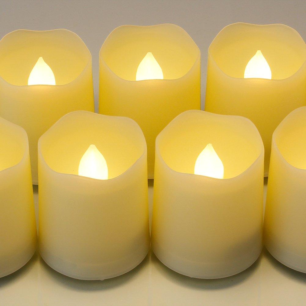 9er Batteriebetriebene Flammenlose Kerzen