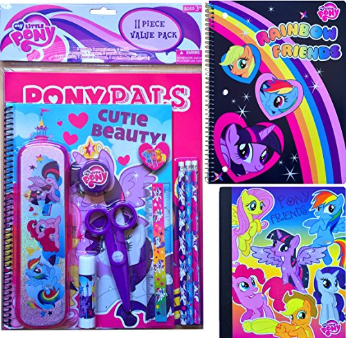 My Little Pony Back to School Supplies Arts and Crafts Gift Set 11 Piece Value Pack with My Little Pony Spiral Notebook and My Little Pony Composition Notebook Gift Set Includes School Supplies (Drawing My Little P compare prices)