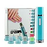 9 In 1 Electric Nail File Buffer Nail Polisher Professional Nail Care System, Nail Drill Nail Buffer Polisher Nail File for Grooming of Hands and Feet, Buff/Shine Nails Hair Removal