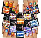 uñas calcomanías tatuaje arte tobogán de agua, cubierta completa, abstractos y flores grandes, paquete de 10 / CVII / // Nail Art Water Slide Tattoo Decals ? Full-Cover ? Abstract & Large Flowers, Pack of 10 ? /CVII/