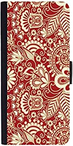 Snoogg Floral Red And Whitedesigner Protective Flip Case Cover For Samsung Ga...