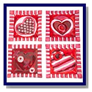 DII Valentine Be Mine Glass Dessert Plates, Set of 4