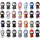 CS Cycling Unisex Waterproof Motorcycle Cycling Lycra Balaclava Breathable Flexible Full Face CS Mask Neck Thermal Warmer 28 Styles QLL23 Multicolor