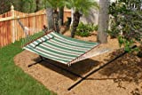 Smart Garden Nantucket Double Quilted Reversible Hammock, Elm Green Stripe 51324-RELM (Discontinued by Manufacturer)