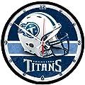 NFL Tennessee Titans Helmet Round Clock
