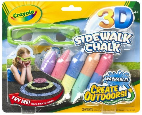 3d Sidewalk Chalk 51-3505 Multi 0525471332 By Crayola