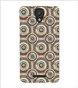 Fuson Premium Circles Pattern Printed Hard Plastic Back Case Cover for Xiaomi Redmi Note 2