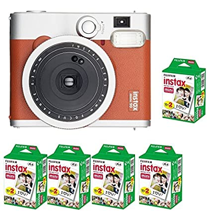 Fujifilm Instax Mini 90 Neo Classic Instant Camera (with 100 Shot Films) Image