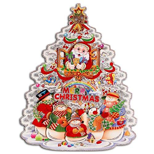 ufengker-merry-christmas-floccaggio-albero-di-natale-babbo-natale-pupazzo-di-neve-3d-adesivi-murali-