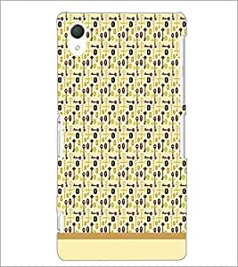 PrintDhaba Key pattern D-1987 Back Case Cover for SONY XPERIA Z3 (Multi-Coloured)