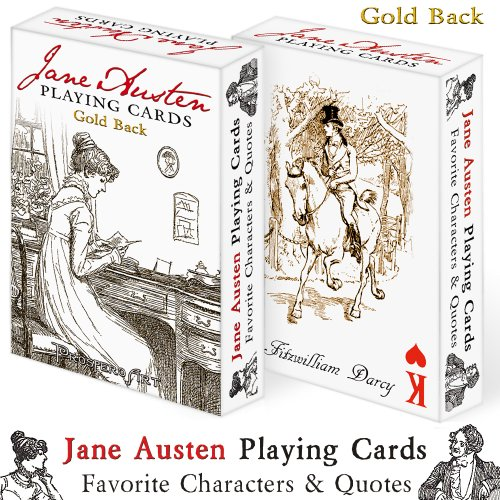"Jane Austen Playing Cards ""Gold Back"" - 1"